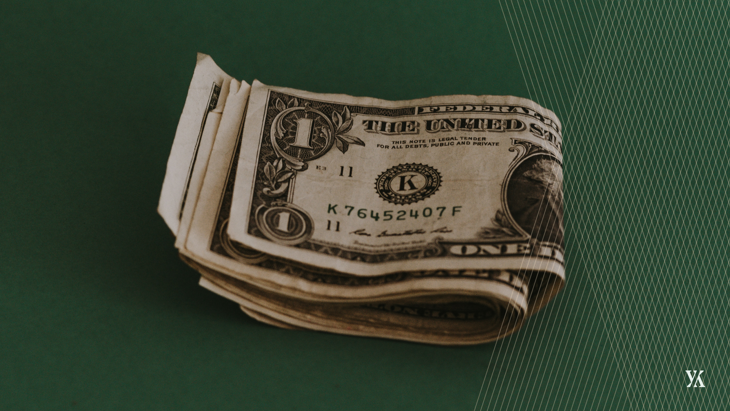 Banner of a stack of money, symbolizing the hidden cost and risk factor of expenses