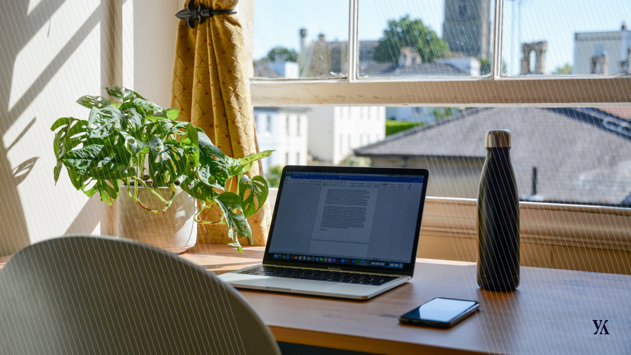"""Blog banner for """"Expenses during lockdown"""" (A home office view)"""