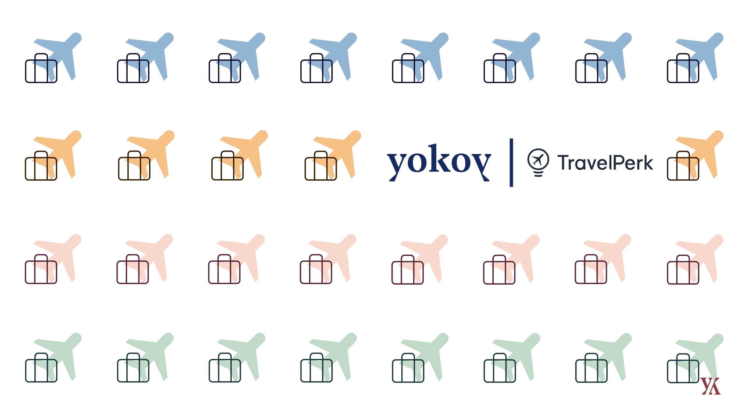 Ein Banner für die Partnerschaft zwischen Yokoy und TravelPerk