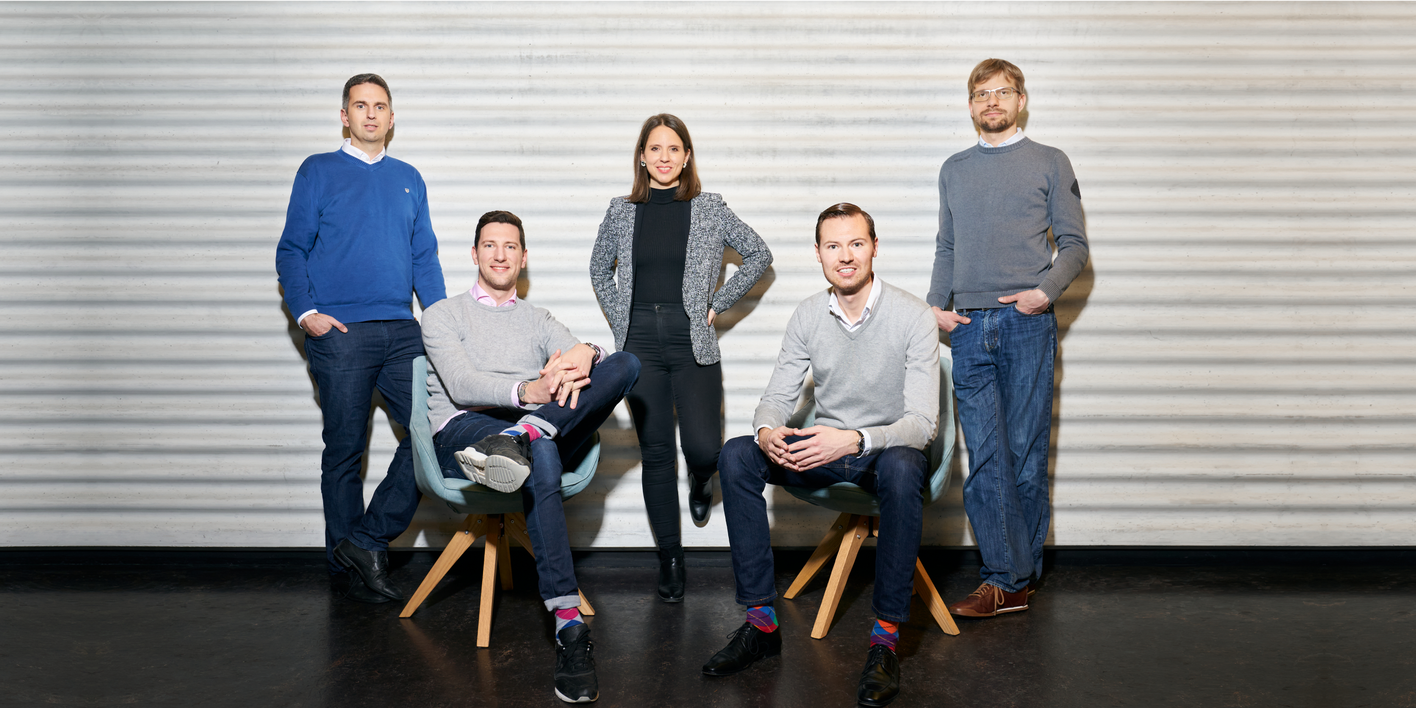 The co-founders of Yokoy: Thomas Inhelder, Lars Mangelsdorf, Melanie Gabriel, Philippe Sahli, Devis Lussi