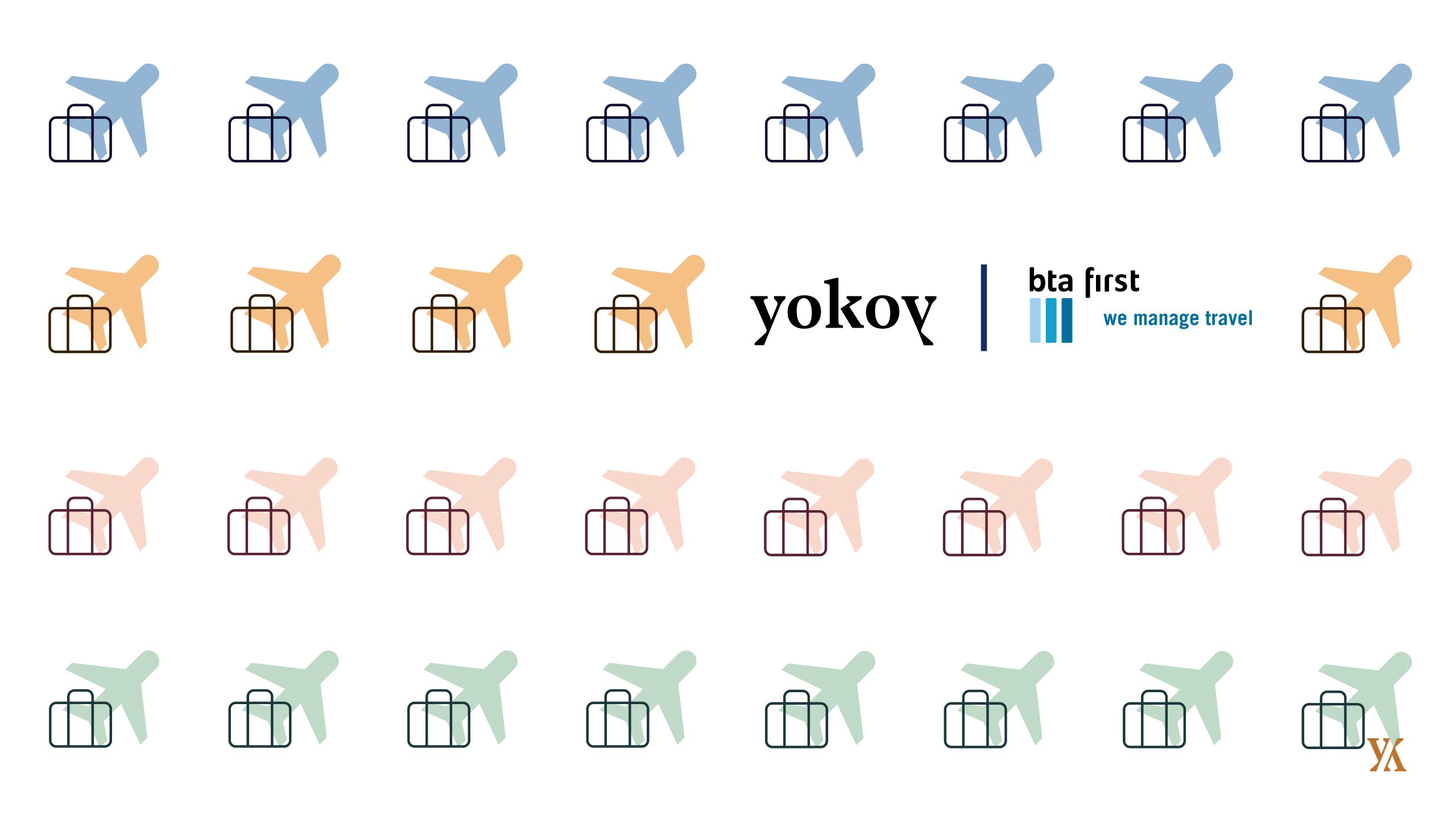 Banner der Partnerschaft zwischen Yokoy und bta first travel
